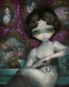 Napoleon and Josephine portrait painting by Jasmine Becket-Griffith Empress Josephine new contemporary art pop surrealism Empire / Regency Portrait French