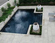 Courtyard Pool. I do like the shape, size and entry of this one.,