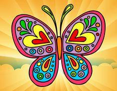 Dibujo Mandala mariposa pintado por 1319