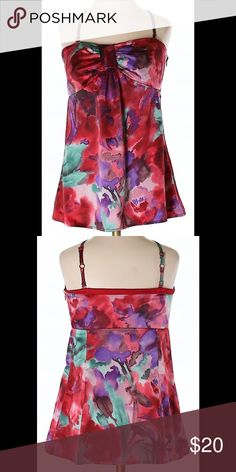 Ann Taylor Loft Floral Silky Tank Blouse Sz 0 🌸 Excellent Condition! Thank you for looking! QUALITY FASHION AT SUPER DISCOUNTED PRICES! Sweetheart neckline! LOFT Tops Tank Tops