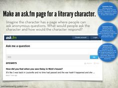 make an ask.fm page for a literary character