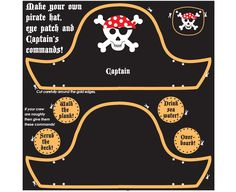 Pirate hat and eye patch craft kit | believe-you-can.com