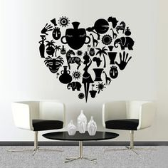 Wall Decal Africa Poster Geography Culture Woman Animals Bowl Sun Palm M193. Thank you for visiting our store!!! Please read the whole description about this item and feel free to contact us with any questions! Vinyl wall decals are one of the latest trends in home decor. Vinyl wall decals give the look of a hand-painted quote, saying or image without the cost, time, and permanent paint on your wall. They are easy to apply and can be easily removed without damaging your walls. Vinyl wall...