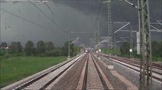 Führerstandsmitfahrt im VT 612 ins Unwetter