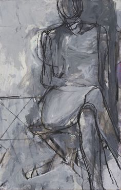 "Seated Woman Richard Diebenkorn #richard_diebenkorn (1966). Synthetic polymer paint and charcoal on board, 31 x 19 7/8"" (78.8 x 50.4 cm)."