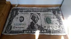 Halstuch aus 100% Baumwolle mit dem ein Dollar Schein als Print - sehr cool! ;) Größe ca. 90cm x 135cm #USA #onedollar #ha...