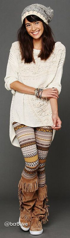 Free People - Sweater Leggings - these would be great for winter pilates! This color is no longer available.