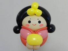 Korean Princess Balloon Crafts, Balloon Decorations, Balloon Cartoon, Mini Balloons, Tsumtsum, Balloon Animals, Hello Kitty, Sculptures, Kawaii