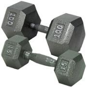 Champion Barbell Hex Dumbbell - Two 15 lb dumbells