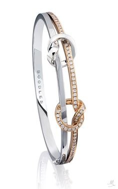 Boodles Knot Bracelet in White and Rose Gold with Diamonds Boodles Knot Bracelet in White and Rose Gold with Diamonds Bangle Bracelets With Charms, Bracelet Set, Sterling Silver Bracelets, Trendy Bracelets, Diamond Bracelets, Diamond Jewelry, Ladies Bangles, Bracelet Designs, Luxury Jewelry