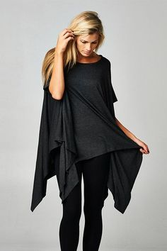 London Tunic in Charcoal. Love the flowiness of this piece.