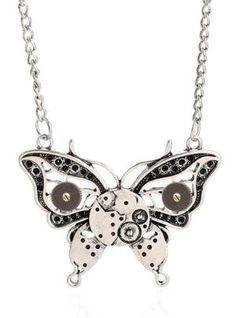 Steampunk Butterfly Necklace --> https://iwisb.com/products/steampunk-butterfly-necklace