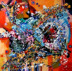 oil/canvas  size 100cmx100cm Canvas Size, Oil, Abstract, Butter
