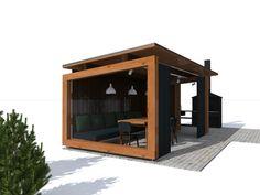 Modern Gazebo, Modern Barn House, Outdoor Spaces, Outdoor Living, Garden Projects, Pavilion, Pergola, Relax, Backyard