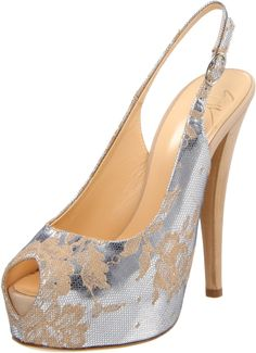 Amazon.com: Giuseppe Zanotti Women's E20009 Slingback Pump,Argento,36 EU/6 B(M) US: Shoes
