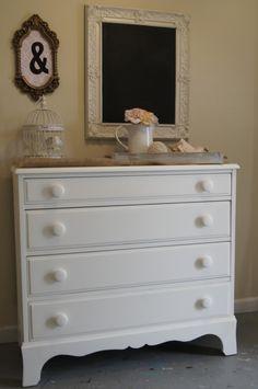 Super cute  white vintage dresser