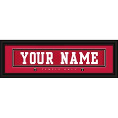 "Temple Owls 8"" x 24"" Personalized Nameplate - $31.99"