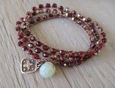 Sterling silver cross crochet wrap bracelet necklace by slashKnots