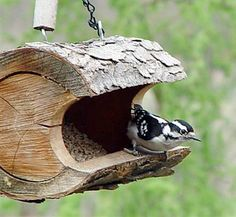 Rustic Bird Feeders