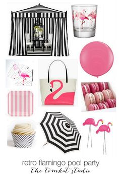 Flamingo Pool Party :: fun theme for girl baby shower