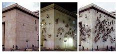 """Doris Salcedo, """"Noviembre 6 y 7,"""" 2000. Installation at Palace of Justice, Bogotá, Colombia. Courtesy Alexander and Bonin, New York. © Doris Salcedo."""