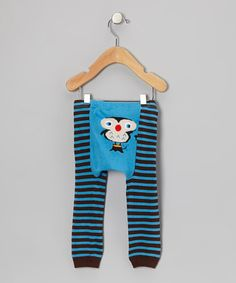 Take a look at this Blue & Brown Stripe Owl Leggings - Infant by Lucy Leggings on #zulily today! adorable! 09242013