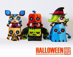 Mini Halloween Paper Toys