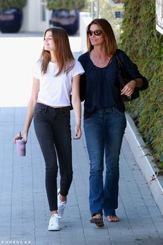 Cindy Crawford and her look-alike daughter Kaia Gerber out together in LA.