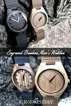 Engraved & Personalized Wooden Watches for Men Best Groomsmen Gifts, Groomsman Gifts, Groomsmen Presents, Groomsmen Watches, Wine Gift Baskets, Basket Gift, Bachelor Party Gifts, Wooden Watches For Men, Watch Engraving
