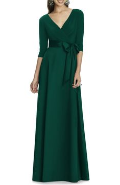Jersey & Mikado A-Line Gown by Alfred Sung on @nordstrom_rack Backless Maxi Dresses, White Maxi Dresses, Chiffon Dresses, Short Beach Dresses, A Line Gown, Nordstrom Dresses, Boho Dress, Bohemian Dresses, Plus Size Dresses