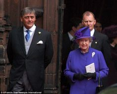 The Duke is pictured with the Queen at the wedding of his daughter Lady Tamara