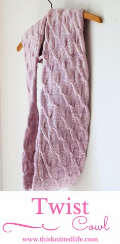 Knitting at its best. This cowl pattern uses a simple twist stitch (free video tutorial) and includes options for a one-side or two-side knit. Long enough to be wrapped twice.