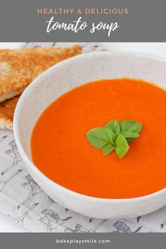 A hearty vegetable-packed winter TOMATO SOUP RECIPE that makes a healthy and delicious midweek meal. have it on the table in 45 minutes! Best Tomato Soup, Tomato Soup Recipes, Soups For Kids, Kids Meals, Midweek Meals, Lunch Box Recipes, Healthy Vegetables, Healthy Soup, Soup And Salad