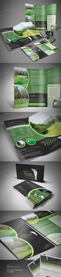 InDesign Template A4 Trifold Brochure - A5 Flyer- Business Card, bundle package, bonus scorecard, available on graphicriver.net. $8
