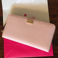 Kate Spade Wallet New Kate Spade Neda Newbury LaneWallet   Color: Posy Pink  New with tags  PRICE IS FIRM  No free shipping  No trades kate spade Bags Wallets