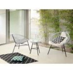 2 Seater Bistro Set Home Loft Concept Colour: White Garden Dining Set, Patio Bar Set, Outdoor Dining Set, Patio Dining, Outdoor Living, 3 Piece Bistro Set, 3 Piece Dining Set, Dining Sets, Mexican Chairs