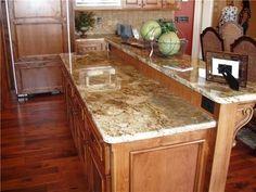 Golden Oak Kitchen Cabinets Granite Golden Wave Or