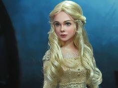 OOAK  Disney Maleficent - Elle Fanning as Aurora - doll repaint by Noel Cruz