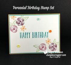 Do you need an easy birthday card?  This is the card for you!  The Perennial Birthday stamp set in the Stampin' Up! 2018 Occasion catalog is perfect for this birthday swap card.