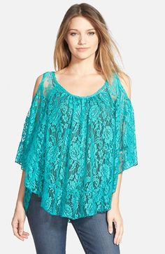artee couture Lace Cold Shoulder Top (Juniors) available at #Nordstrom