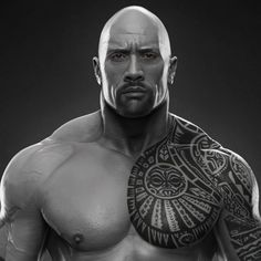 Here is another sculpt I did for WWE, one of my favorites, Dwayne The Rock Johnson, hope you like it, cheers The Rock Dwayne Johnson, Dwayne The Rock, Rock Johnson, Wwe The Rock, Tatuaje The Rock, Dwane Johnson, Brust Tattoo, Rock Tattoo, Polynesian Tattoo Designs