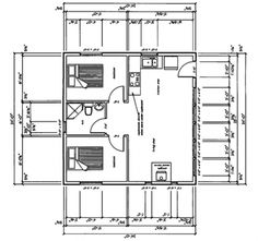 This floor plan is for an above the garage apartment. Seems like a nice floor plan though. 2 bedrooms and one large great room.