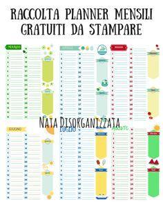 Nata disorganizzata: Refill gratuiti per l'agenda: planner mensili perp...