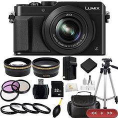 Panasonic LUMIX LX100 + 32GB and 20PC Accessory Kit. Includes Wide Angle & Telephoto Lenses. #panasonic #lumix #lx100