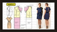 Modelagem de vestido com recortes abertos nas mangas e nas costas. Fonte: ModelistA: CUT OUT