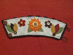 Extra Large Felt Coffee Cozy With Appliqued and by RubyeLea, $10.00