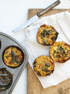 Swiss Chard and Chanterelle Mushroom Frittata Cups.