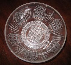 """EAPG 1884 Bryce Brothers """"Cathedral"""" Waffle/Fine Cut serving Bowl"""