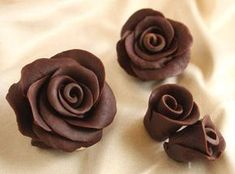 Chocolate Roses are gorgeous, delicious lifelike flowers made out of a candy paste called chocolate plastic. This photo tutorial will give you step-by-step instructions showing how to make chocolate roses. Cake Decorating Tips, Cookie Decorating, Cake Cookies, Cupcake Cakes, Cupcakes, Decoration Patisserie, Chocolate Flowers, Modeling Chocolate, How To Make Chocolate