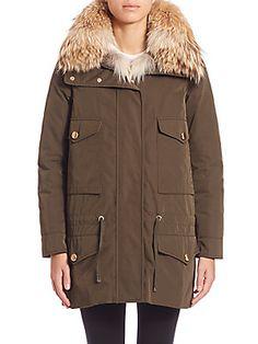 Moncler Margarita Fur-Trimmed Jacket & Fur Vest